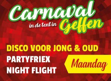 Carnaval in de tent in Geffen